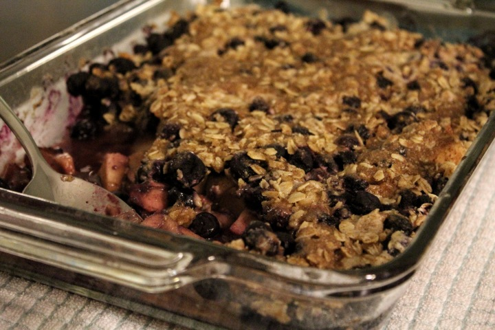 Apple blueberry crisp main #2