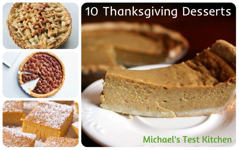 Thanksgiving Desserts Collage