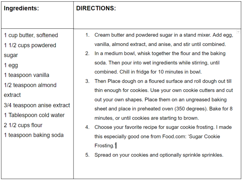 sugar cookies recipe card pic